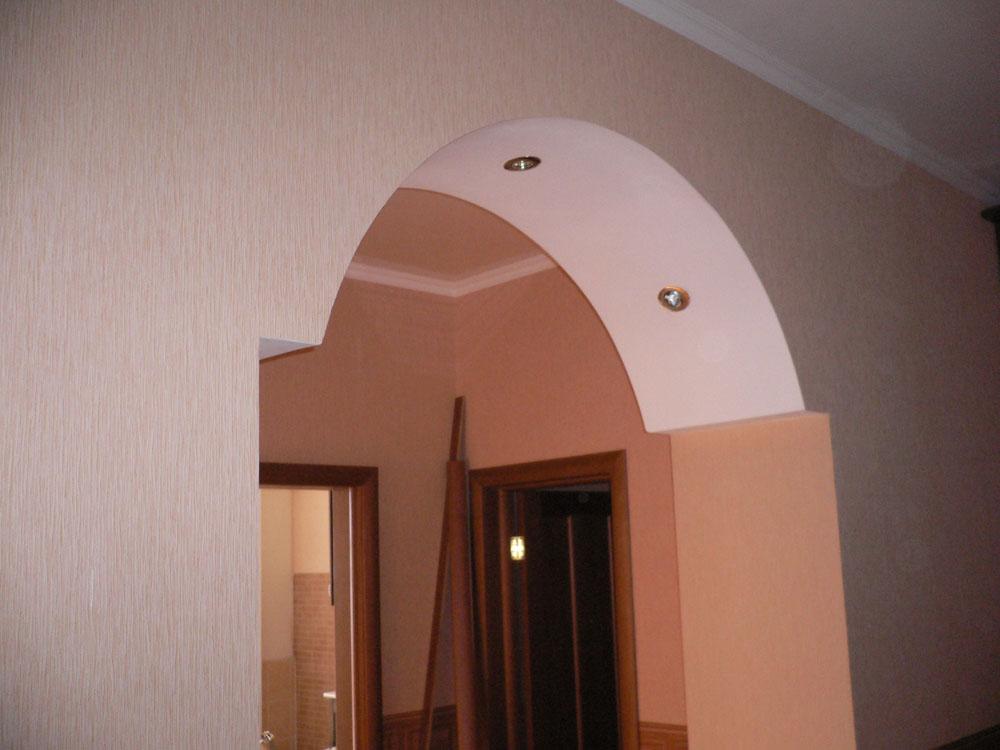 Широкие арки из гипсокартона фото